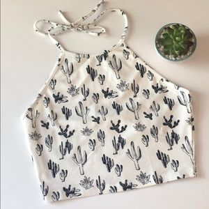NWT Forever 21 Cactus Print Halter Top
